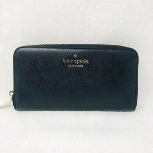 Kate spade staci large wallet black leather